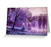 Lavender Landscape 1 - Franklin NJ, USA Greeting Card