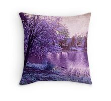 Lavender Landscape 1 - Franklin NJ, USA Throw Pillow