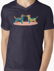 Paper Dogs Mens V-Neck T-Shirt