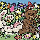 Teddy Bear And Bunny - Chasing The Dragon by Brett Gilbert