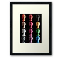 Polystyrene Heads - A Typology Framed Print