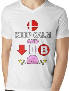 Kirby Stone : Smash Bros SSB4 Mens V-Neck T-Shirt