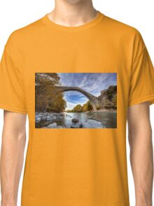 Traditional stone bridge in Konitsa, northern Greece Classic T-Shirt