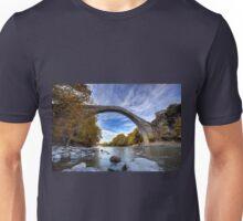 Traditional stone bridge in Konitsa, northern Greece Unisex T-Shirt