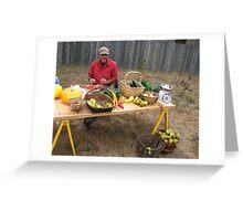 Farmer's Market Greeting Card