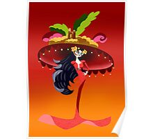 Gothic with big hat Poster