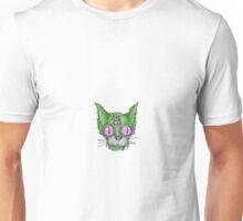 Green Trippy Kitty Unisex T-Shirt