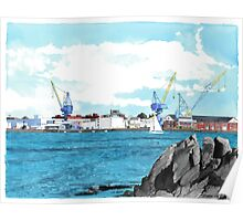 The Portsmouth Naval Shipyard Poster