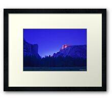 Half Dome At Sunset 2 Framed Print