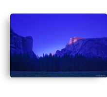 Half Dome At Sunset 2 Canvas Print