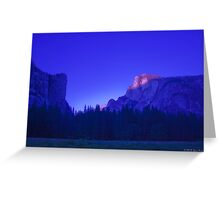 Half Dome At Sunset 2 Greeting Card
