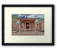 Silver Canyon Saloon Framed Print