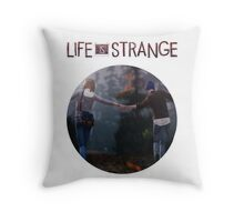 Chloe and Max walking together Throw Pillow