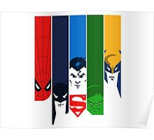 Super Heroes Marvel and DC Poster