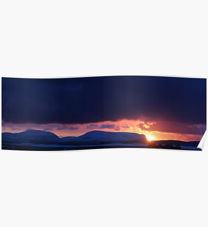 Stormy Sunset over Hoy Poster