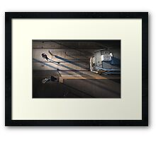 The lonely city Framed Print