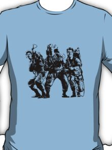 Ghostbusters Film Poster Silhouette T-Shirt
