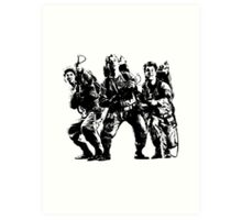 Ghostbusters Film Poster Silhouette Art Print