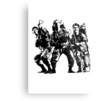 Ghostbusters Film Poster Silhouette Metal Print