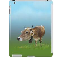 Milk cow in the field iPad Case/Skin