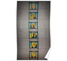 Six storeys, four stories. Poster