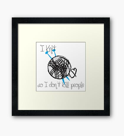 I Knit Framed Print