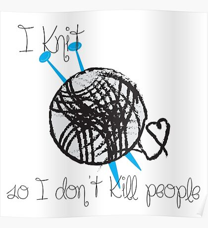 I Knit Poster