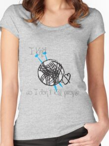 I Knit Women's Fitted Scoop T-Shirt