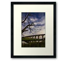 River Wharfe and Arthington Viaduct under Moonlight Framed Print
