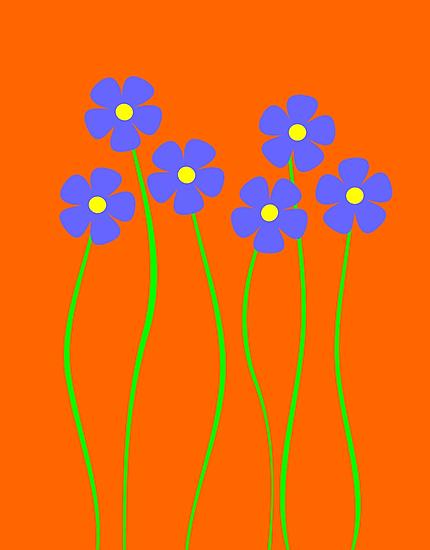 Blue flowers by demonkourai