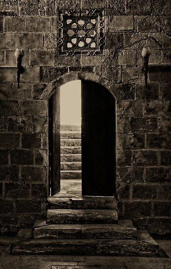 Qalawun Doorway Cairo by Nigel Fletcher-Jones
