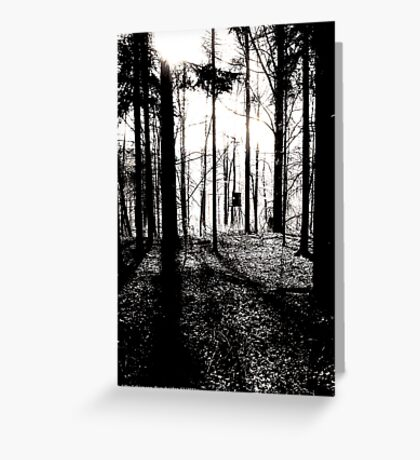 Deer stands in the woods VRS2 Greeting Card