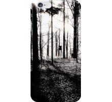 Deer stands in the woods VRS2 iPhone Case/Skin