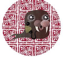 Little Walrus greeting card by Flylittlebird