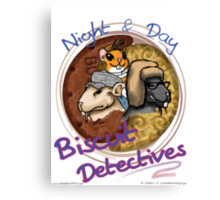 Night & Day, Biscuit Detectives! Canvas Print