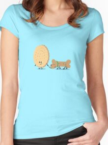 Dog. Biscuit. Women's Fitted Scoop T-Shirt