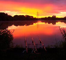 Sunrise over Nazeing Meads Fishing by Connor Bartlett