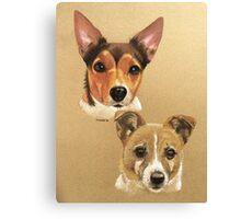 Winnie & Belle the adorable JRTs Canvas Print