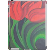Red Tulip Diptych (Left) iPad Case/Skin