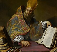 St. Ambrose, c.1623-25  by Bridgeman Art Library