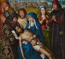 Lamentation with Saint John the Baptist and Saint Catherine of Alexandria, c.1493-1501 by Bridgeman Art Library