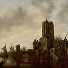 River Landscape with the Pellecussen Gate near Utrecht, 1648 by Bridgeman Art Library