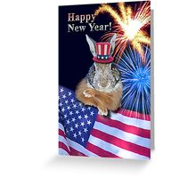 New Years Bunny Rabbit Greeting Card