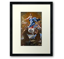 The Immaculate Conception with Saints Francis of Assisi and Anthony of Padua, 1650 Framed Print
