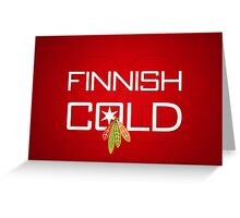 Finnish Cold Greeting Card