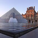 The Louvre, Paris at sunset by graceloves