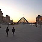 Louvre pyramid sunset, Paris, France by graceloves