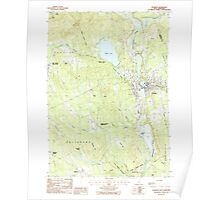 USGS TOPO Map New Hampshire NH Franklin 329565 1987 24000 Poster