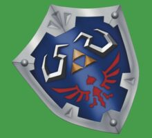 A Legend of Zelda (Left-shoulder Back) Shield Design  Baby Tee