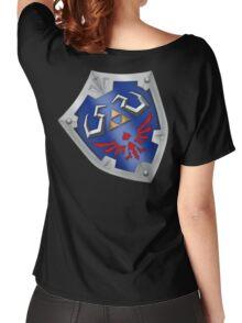 A Legend of Zelda (Left-shoulder Back) Shield Design  Women's Relaxed Fit T-Shirt